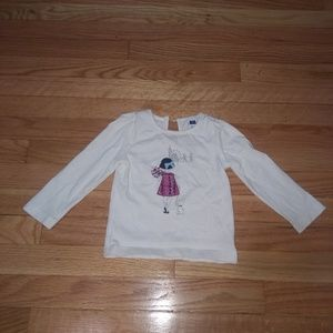 Janie and Jack long sleeve top 12-18 months